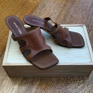Sergio Rossi Leather Sandal 38 1/2